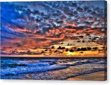 Barefoot Beach Sunset Canvas Print by Rich Leighton