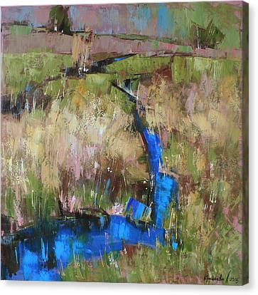 Canvas Print featuring the painting Barefoot In The Dew  by Anastasija Kraineva