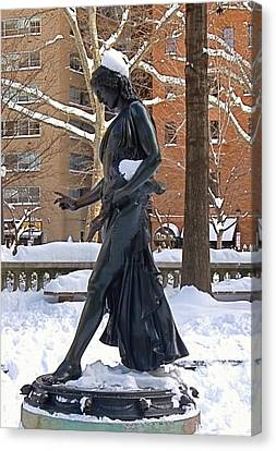 Canvas Print featuring the photograph Barefoot In The Park by Rona Black