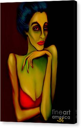 Barfly Canvas Print by Shanina Conway