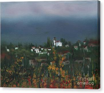 Bargathrough The Fog Canvas Print by Leah Wiedemer