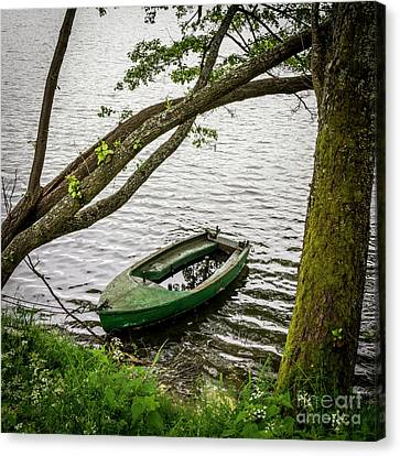 Rowboat Canvas Print - Bark Floating In Water by Bernard Jaubert