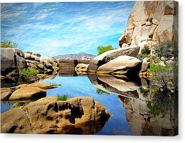 Canvas Print featuring the photograph Barker Dam - Joshua Tree National Park by Glenn McCarthy Art and Photography