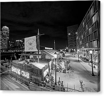 Barking Crab Boston Ma Black And White Canvas Print by Toby McGuire