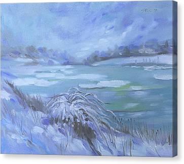 Barlow Pond Snowscapr Canvas Print