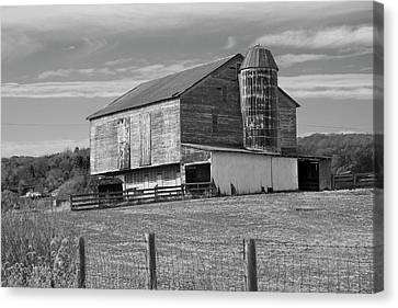 Canvas Print featuring the photograph Barn 1 by Mike McGlothlen