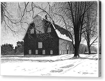 Barn 24 Maplenol Barn Canvas Print by Joel Lueck