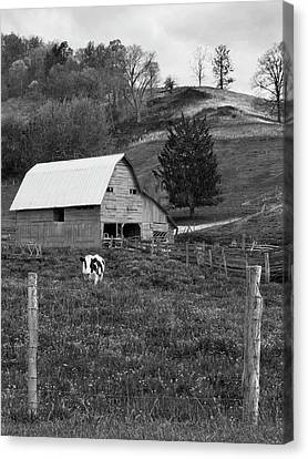 Canvas Print featuring the photograph Barn 4 by Mike McGlothlen