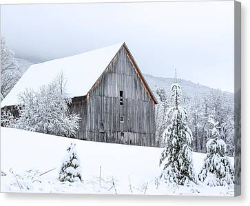 Barn After Snow Canvas Print