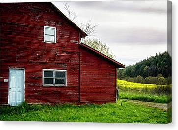 Barn And Wildflowers Canvas Print by Greg Mimbs