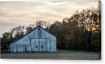 Barn At Sunset Canvas Print by Randall Branham