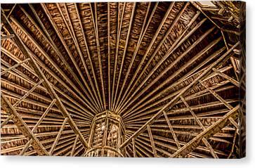 Barn Beams Canvas Print by Stephen Stookey