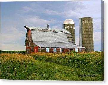 Canvas Print featuring the photograph Barn by Don Durfee