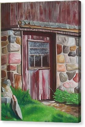 Barn Door In Memphis Canvas Print by Barbara Auito