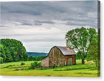 Canvas Print featuring the photograph Barn In Bliss Township by Bill Gallagher