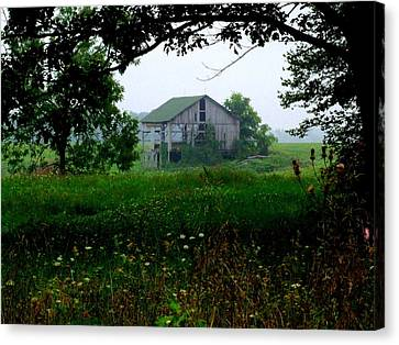 Indiana Landscapes Canvas Print - Barn In Meadow by Michael L Kimble