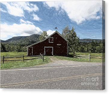 Barn In Platte Clove Canvas Print by Donna Cavanaugh