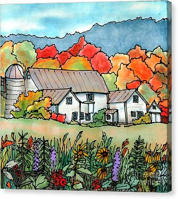 Barn In Pomfret Vermont Canvas Print by Linda Marcille