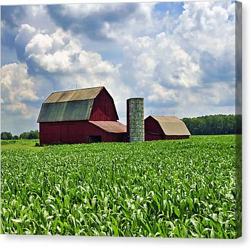 Barn In The Corn Canvas Print