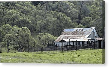 Barn In The Meadow Canvas Print
