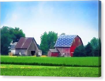 Barn In The U.s.a Canvas Print