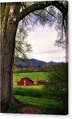 Barn In The Valley Canvas Print by Greg Mimbs