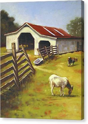 Barn N Goats Canvas Print by Todd Baxter