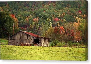 Barn North Carolina 1994 Canvas Print by Michelle Wiarda