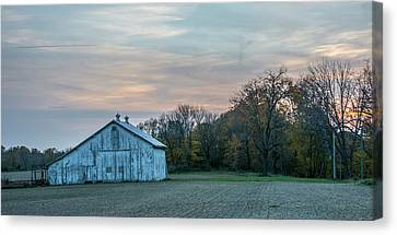 Barn On Furnas-oglesby Rd Canvas Print by Randall Branham