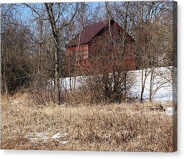 Barn On The Edge Of Town Canvas Print by Scott Kingery