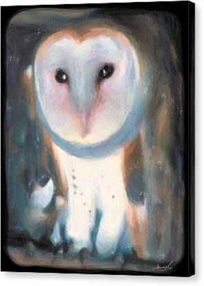 Barn Owl Canvas Print by The Art of Marsha Charlebois