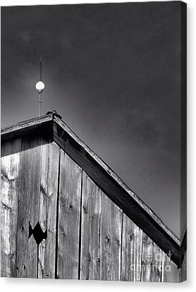 Barn Peak Against The Sky Canvas Print by Kristi Beers-Mason