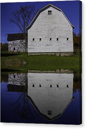Barn Reflection Canvas Print by Garry Gay