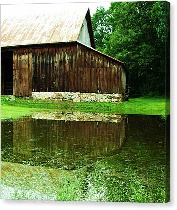 Canvas Print - Barn Reflection I by Anna Villarreal Garbis