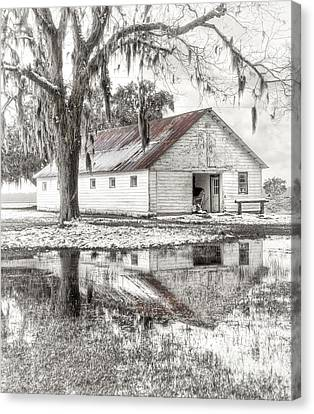 Barn Reflection Canvas Print