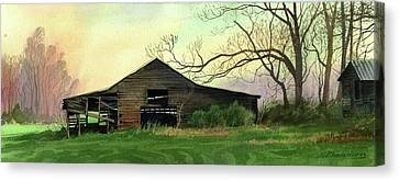 Barn Canvas Print by Sergey Zhiboedov