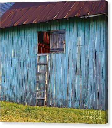 Barn Shadows. Vermont Canvas Print by George Robinson