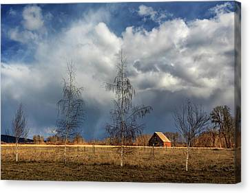 Canvas Print featuring the photograph Barn Storm by James Eddy