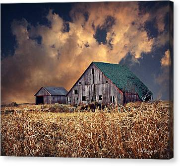 Barn Surrounded With Beauty Canvas Print by Kathy M Krause