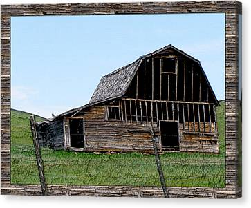 Canvas Print featuring the photograph Barn by Susan Kinney