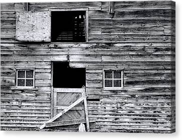 Barn Texture Canvas Print by Wayne Sherriff
