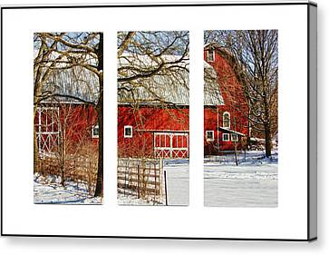 Barn Triptych Canvas Print by Pat Cook