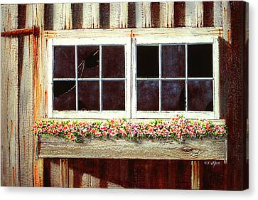 Barn Window Box Canvas Print