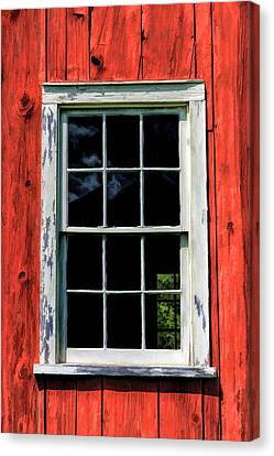 Barn Window Closeup At Old World Wisconsin Canvas Print