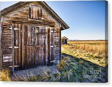 Fort Collins Canvas Print - Barn Wood by Keith Ducker