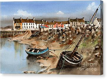 Barna Village, Galway Canvas Print