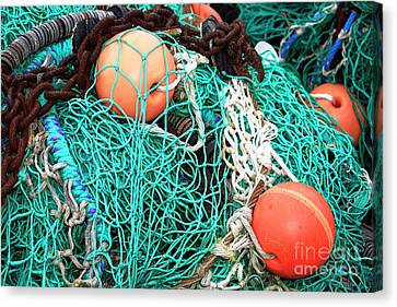 Canvas Print featuring the photograph Barnegat Fishing Nets by John Rizzuto