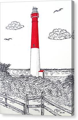 Barnegat Light Drawing Canvas Print by Frederic Kohli