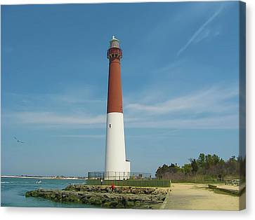 Barnegat Lighthouse Canvas Print by Bill Cannon