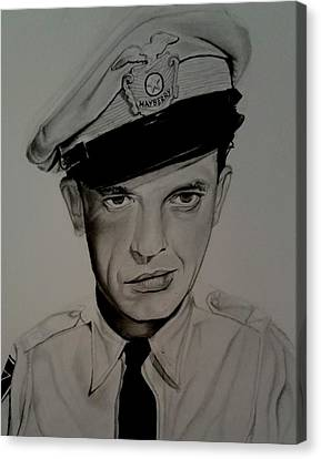 Barney Fife Canvas Print by Brandon Treadaway